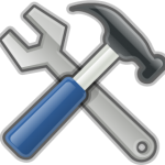 hammer and wrench icon